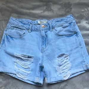 Forever 21 light wash Jean shorts
